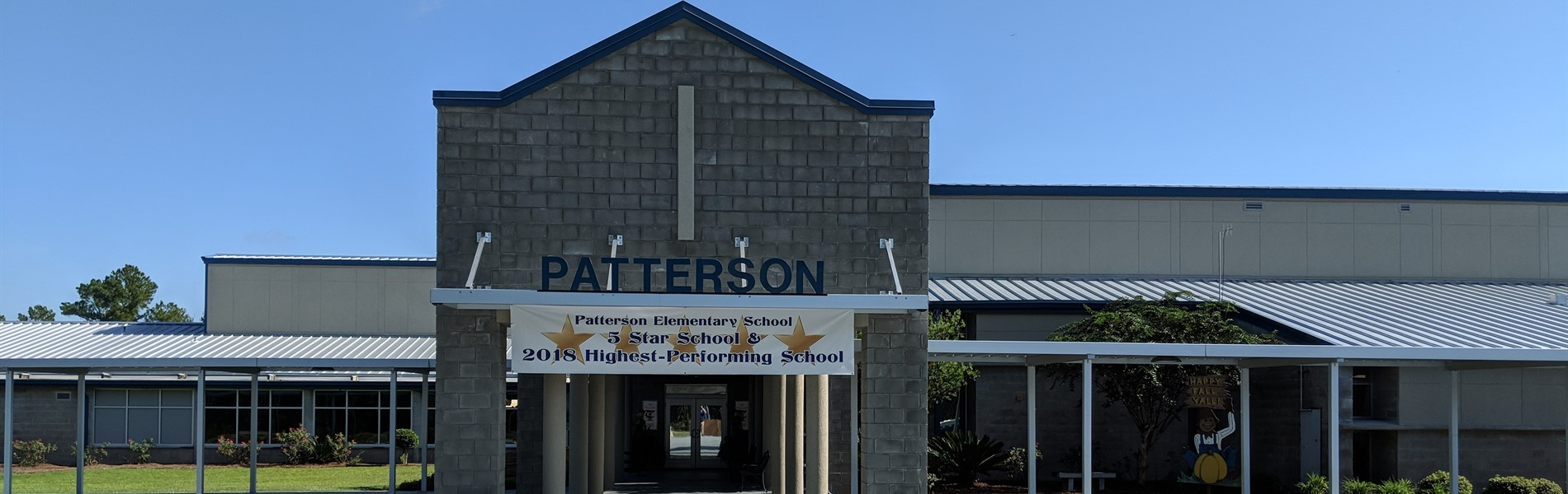 Front entrance of Patterson Elementary School